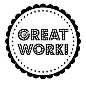 """Great Work"" Stamp – Three Designing Women"