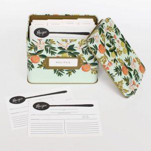 Citrus Floral Recipe Box – Rifle Paper Co.
