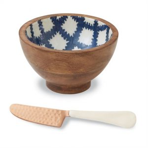 Tile Bungalow Wood & Enamel Dip Bowl Set – Mudpie