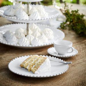 White Pearl Salad/Dessert Plate – Costa Nova
