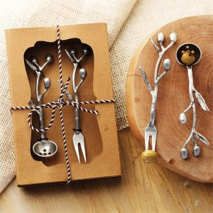 Olive Leaf Fork and Spoon – Mudpie