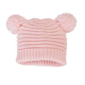 Pink Pom Pom Knit Hat – Mudpie