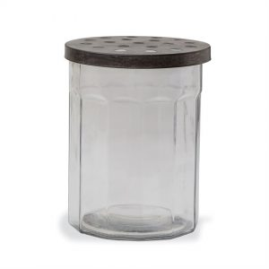 Glass Vase with Lid – Two Sizes – Mudpie