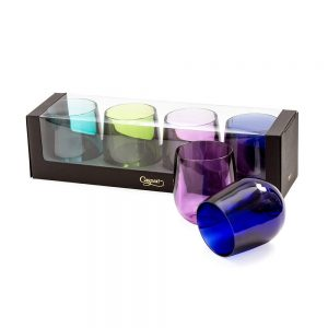 Acrylic 12oz Tumbler Gift Set in Jewel Tones  – Caspari