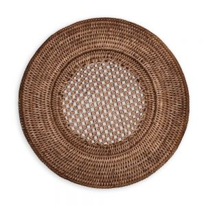 Rattan Round Plate Charger – Caspari