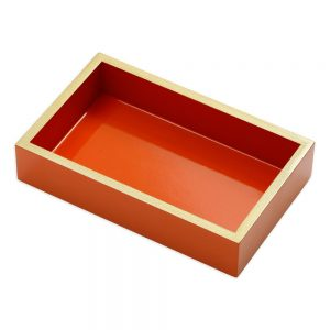 Lacquer Guest Towel Napkin Holder in Orange – Caspari