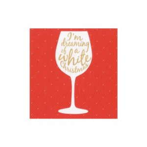 Wine Christmas Paper Cocktail Napkins – Caspari
