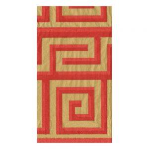 Greek Meander Paper Guest Towel Napkins – Caspari