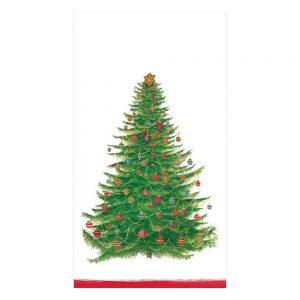 Glittering Tree Paper Guest Towel Napkins – Caspari