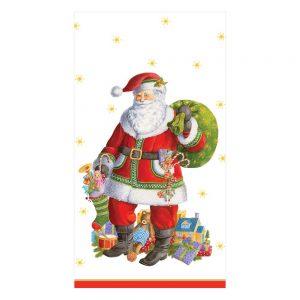 Santa Claus Lane Paper Guest Towel Napkins – Caspari