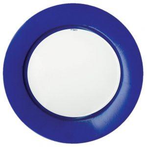 Linen Border Paper Dinner Plates – Caspari