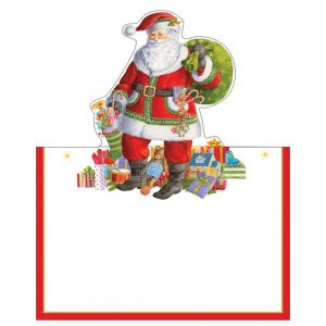 Santa Claus Lane Die-Cut Place Cards – Caspari