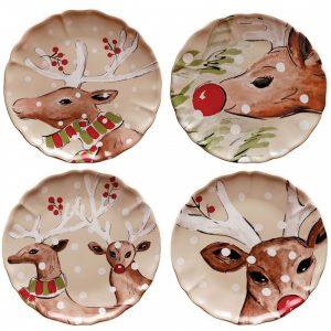 Casafina™ | Deer Friends | Dinner Plates (4) – Linen