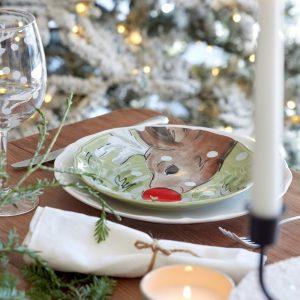 Casafina™ | Deer Friends | Salad Plates (4) – Green