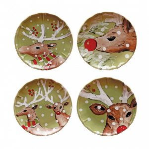 Casafina™ | Deer Friends | Salad Plates (4) – Green