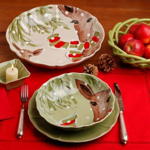 Casafina™ | Deer Friends | Serving Bowl – Linen