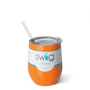 Swig – 12 oz. Stemless Wine Cup – Orange