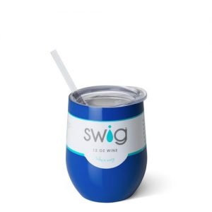 Swig – 12 oz. Stemless Wine Cup – Royal Blue
