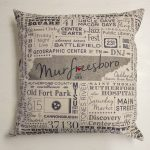 Murfreesboro Subway Tile Art – Pillow