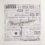 Murfreesboro Subway Tile Art – Poster