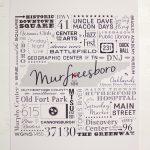 Murfreesboro Subway Tile Art – Poster